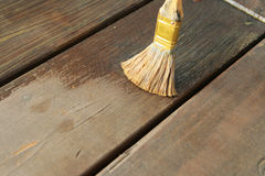 Waterproofing deck Stock Photo