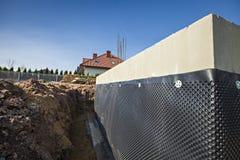Waterproofing fundacyjny budynek Zdjęcie Stock