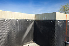 Waterproofing fundamentbyggnad Royaltyfria Bilder