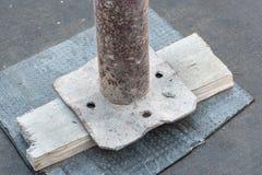 Waterproofing i termiczna izolacja taras - dach Domowa naprawa fotografia royalty free