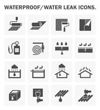 Waterproofing icon sets Stock Photo