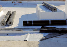 Waterproofing and insulation pvc terrace Royalty Free Stock Image