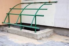 Waterproofing podstawa Fundacyjny Waterproofing, metal budowa dla baldachimu Podstawa dla metal struktur Obrazy Stock