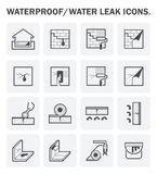 Waterproofing vector icon. Waterproofing and water leaked vector icon sets design Stock Photos