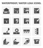 Waterproofing vector icon Royalty Free Stock Images