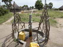 Waterput in Afrika Stock Afbeeldingen