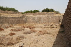 Waterreservoir van Harappan-beschavingsplaats Royalty-vrije Stock Foto's