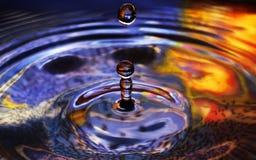 Waterrimpelingen en Dalingen Stock Foto