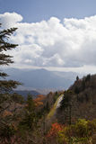 Waterrock Knob on the Blue Ridge Parkway Stock Photos