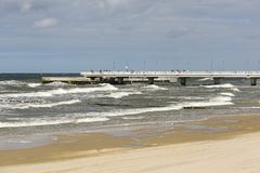 Waters of the Baltic Sea during windy weather stock photos