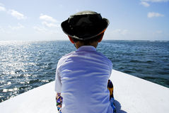 Waters of belize central america. Boat ride in belize central america Stock Image