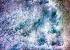 Seething, fluid, boiling, foaming, splashing water. The waters of chaos. Seething, fluid, boiling, foaming, splashing water of waterfall Royalty Free Stock Photo
