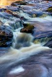 The waters path. The waters follows the rock path of the little bushkill creekn Royalty Free Stock Photo