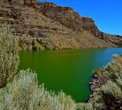 Waters Green. Deschutes River arm of Lake Billy Chinook - The Cove Palisades State Park near Culver, OR stock image