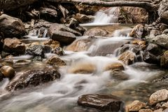 Pure waters run down the mountain royalty free stock images