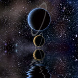 Waters reflection and Planets Royalty Free Stock Photos