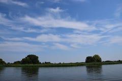 Waterscape in Brandenburg, Duitsland royalty-vrije stock afbeelding