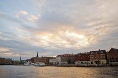 Waterscape in Christianshavn, Copenhaghen Immagine Stock Libera da Diritti