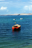Waterscape with Fishing Boats in Croatia. Fishing boats at the sea in the town called Pag in Croatia Royalty Free Stock Photos