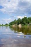 waterscape kampieren Stockfotografie