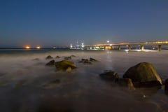 Waterscape lungo di esposizione fotografia stock libera da diritti