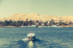Waterscape at Nile near Luxor Royalty Free Stock Photos