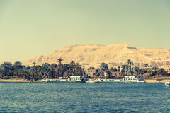 Waterscape at Nile near Luxor Royalty Free Stock Image