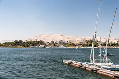 Waterscape at Nile near Luxor Royalty Free Stock Photography