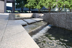 Waterscape at office building. Urban waterfall at Williams Square in  Irving Texas Stock Photography