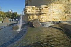 Waterscape på det nationella museet av indianen, Smithsonian, i Washington D C Arkivfoton