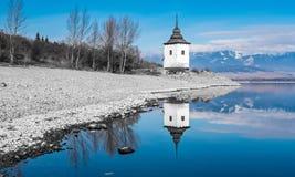 Waterscape på Liptovska Mara, Slovakien Fotografering för Bildbyråer