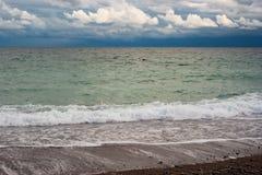 Waterscape przy jesiennym sezonem Obraz Royalty Free