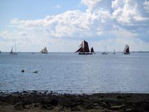 Waterscape: Sails Away Stock Images
