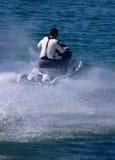 Waterscooter dans l'action Photographie stock libre de droits