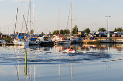 Waterscooter in Mariestad guestharbour Royalty Free Stock Images