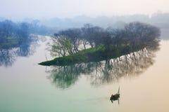 waterside села Стоковая Фотография