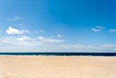 Waterside. Ocean shore sandy beach in Portugal Stock Images