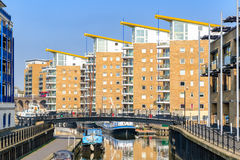 Waterside apartments at Limehosue Basin Royalty Free Stock Photography