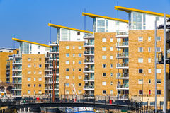 Waterside apartments at Limehosue Basin Royalty Free Stock Images