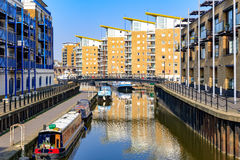 Waterside apartments at Limehosue Basin Stock Photography