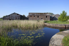 Waterside barns Stock Image