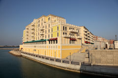 Waterside building at the Perl, Doha Royalty Free Stock Photos