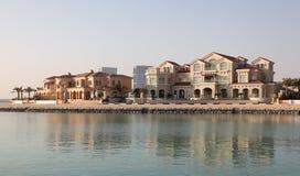 Waterside buildings in Doha Stock Images