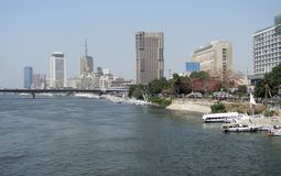 Waterside Cairo city view Stock Image