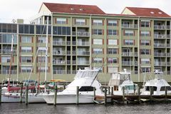 Waterside condos and marina Stock Image