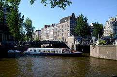 Waterside de Amsterdão Fotografia de Stock Royalty Free