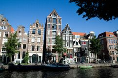 Waterside de Amsterdão Fotos de Stock Royalty Free