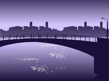 Waterside di paesaggio urbano. Fotografie Stock
