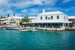 Waterside Dining Bermuda Stock Photography
