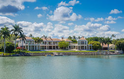 Waterside Home in Naples, Florida Royalty Free Stock Images